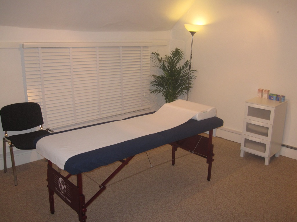 Acupuncture treatment room in kings langley